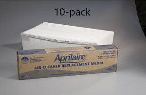 Genuine Aprilaire Space-Gard replacement filter # 201; 10-Pack aprilaire, spacegard, spaceguard, space, gard, guard, 201, filter, air, cleaner, product, part, replacement""
